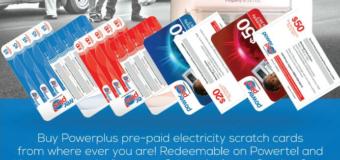 BREAKING NEWS: POWERTEL INTRODUCES ELECTRCITY SCRATCH CARDS